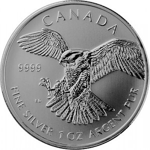 Birds of Prey Peregrine Falcon 1oz Silver - 2014