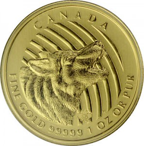 Call of the Wild - Howling Wolf (Heulender Wolf) 1oz Gold - 2014