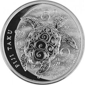 Fiji Taku Tortue - 1oz d'argent fin - 2013
