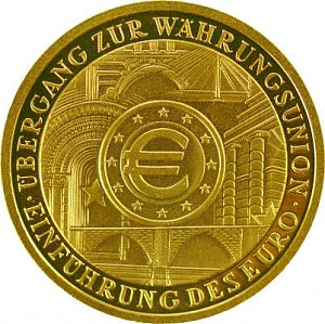 100 Euro 1/2oz Gold - 2002 Währungsunion