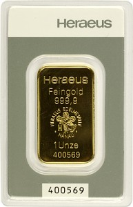 Goldbarren 1oz - Heraeus