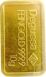 Lingot 10g d'or fin - différents fabricants