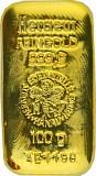 Goldbarren 100g - Heraeus gegossen