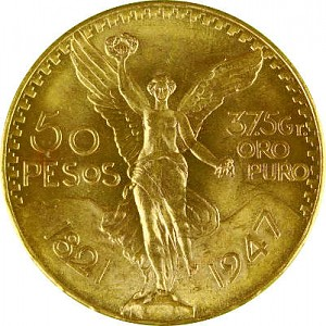 50 Mexican Pesos 37,46g Gold