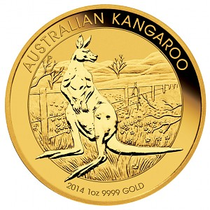 Australian Kangaroo 1oz Gold - 2014