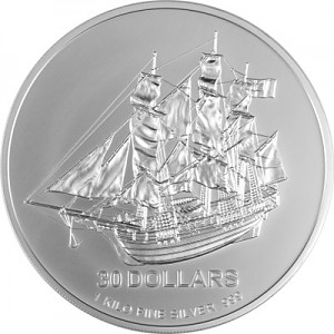 Cook Islands 2009 round, 1kg Silver