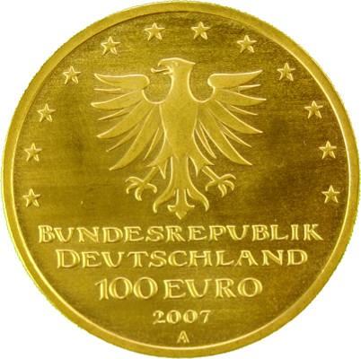 100 euro 1 2oz gold 2007 l beck edelmetalle direkt. Black Bedroom Furniture Sets. Home Design Ideas