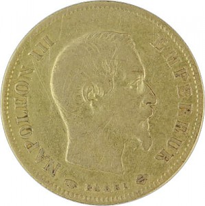 10 French Francs Napoleon III 2,9g Gold