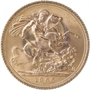 1 Pound Sovereign Elisabeth II Pre-Decimal 7,32g Gold