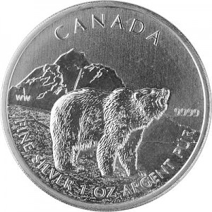 Canadian Wildlife Grizzly 1oz Silver - 2011