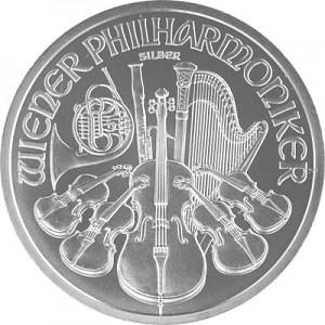 Philharmonique de Vienne 1oz d'Argent (TVA Normale)