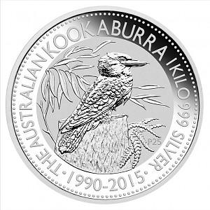 Kookaburra 1kg Silber - 2015