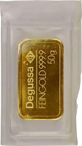 Goldbarren 50g - verschiedene Hersteller