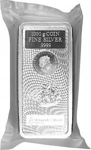 Cook Islands Münzbarren 1kg Silber