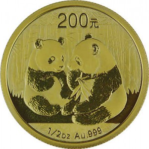 China Panda 1/2oz Gold - 2009