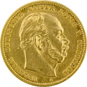 10 Mark allemand Wilhelm I de Prusse 3,58g d'or fin