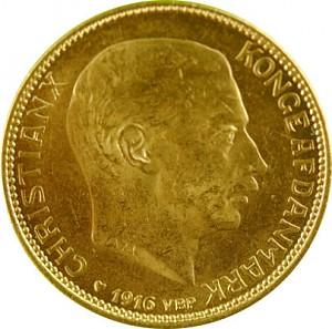 20 Dänische Kronen - Christian X. 8,06g Gold
