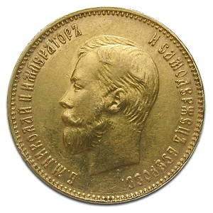 10 Rouble Nikolaus II 7,74g Gold