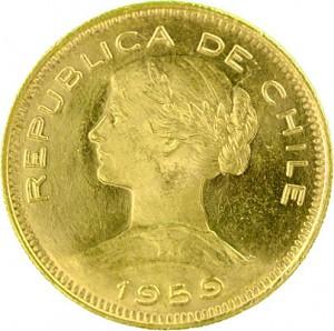 100 Chilean Pesos 18,30g Gold