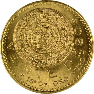 20 Mexican Pesos 14,99g Gold