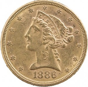 5 Dollar Half Eagle Liberty Head 7,52g Gold