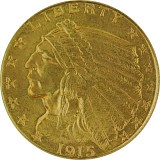5 Dollar Half Eagle Indian Head 7,52g Gold
