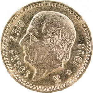 10 Pesos Mexique 7,50g d'or fin