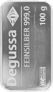 Silberbarren 100g Silber