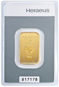 Gold Bar 10g - Heraeus Kinebar