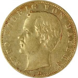 10 Mark König Otto von Bayern 3,58g Gold