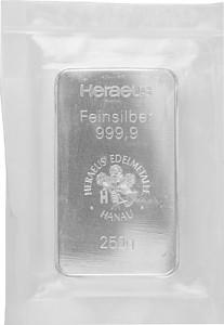 Silberbarren 250g Silber (regelbesteuert)