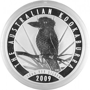 Kookaburra 10oz Silber - 2009