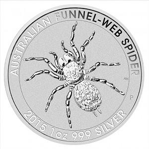 Australien Trichternetzspinne (Funnel Web Spider)  1oz Silber - 2015