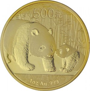China Panda 1oz Gold - 2011