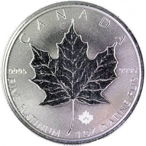 Maple Leaf 1oz de platine fin