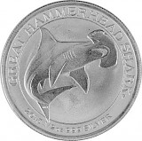 Great Hammerhead Shark - Hammerhai 1/2oz Silber 2015