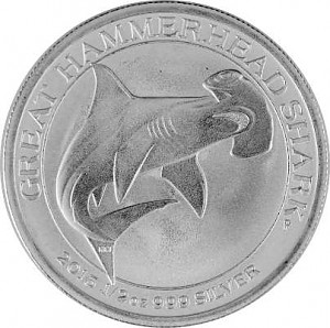 Great Hammerhead Shark - Hammerhai 1/2oz Silber 2015