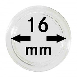 Coin Capsules 16mm, 10 Pieces