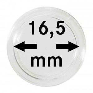 Coin Capsules 16,5mm, 10 Pieces