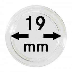 Coin Capsules 19mm, 10 Pieces