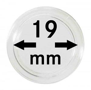 Capsules pour monnaies 19mm, 10 pièces
