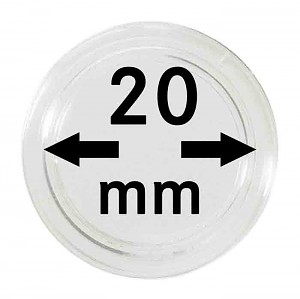 Coin Capsules 20mm, 10 Pieces