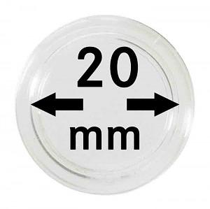 Capsules pour monnaies 20mm, 10 pièces
