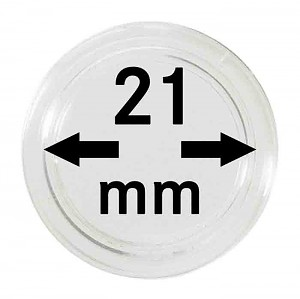 Coin Capsules 21mm, 10 Pieces