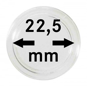 Coin Capsules 22,5mm, 10 Pieces