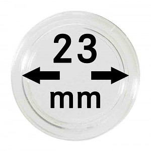 Coin Capsules 23mm, 10 Pieces