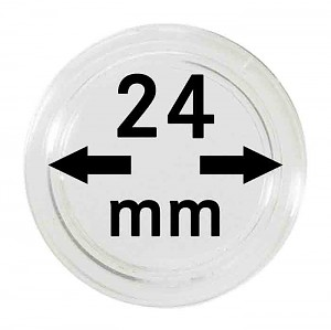 Coin Capsules 24mm, 10 Pieces