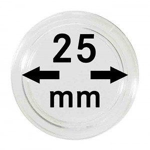 Coin Capsules 25mm, 10 Pieces