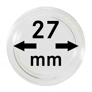 Coin Capsules 27mm, 10 Pieces
