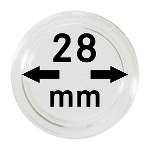 Coin Capsules 28mm, 1 Piece